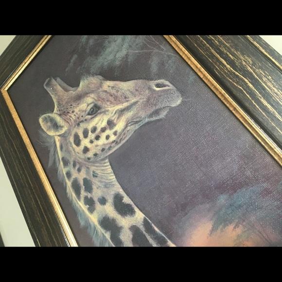 Large Framed Giraffe Wall Art